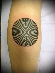 Фото тату лабиринт - пример - 29052017 - пример - 059 tattoo maze
