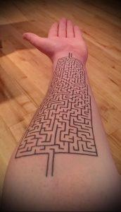 Фото тату лабиринт - пример - 29052017 - пример - 060 tattoo maze