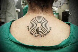 Фото тату лабиринт - пример - 29052017 - пример - 072 tattoo maze