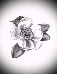 Фото тату магнолия - 30052017 - пример - 002 Magnolia tattoo