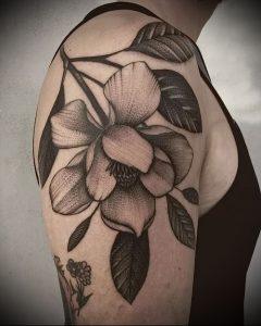 Фото тату магнолия - 30052017 - пример - 007 Magnolia tattoo