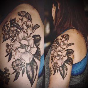 Фото тату магнолия - 30052017 - пример - 010 Magnolia tattoo