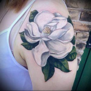 Фото тату магнолия - 30052017 - пример - 017 Magnolia tattoo