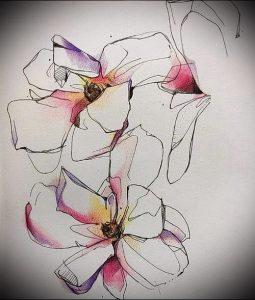 Фото тату магнолия - 30052017 - пример - 018 Magnolia tattoo