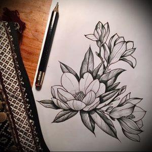 Фото тату магнолия - 30052017 - пример - 021 Magnolia tattoo