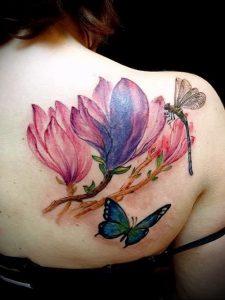Фото тату магнолия - 30052017 - пример - 022 Magnolia tattoo