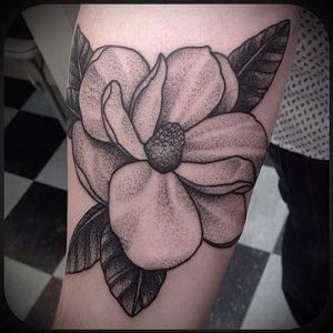 Фото тату магнолия - 30052017 - пример - 028 Magnolia tattoo