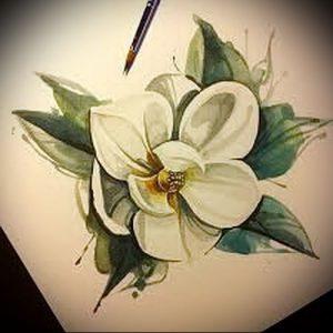 Фото тату магнолия - 30052017 - пример - 029 Magnolia tattoo