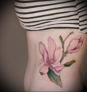 Фото тату магнолия - 30052017 - пример - 034 Magnolia tattoo