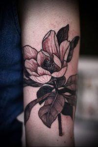 Фото тату магнолия - 30052017 - пример - 035 Magnolia tattoo