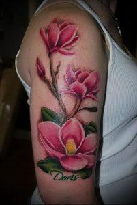 Фото тату магнолия - 30052017 - пример - 038 Magnolia tattoo