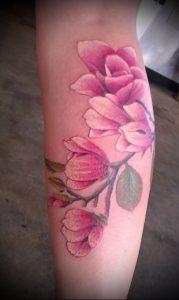 Фото тату магнолия - 30052017 - пример - 040 Magnolia tattoo