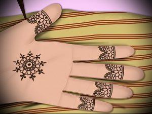 Фото Мехенди на ладони - 17062017 - пример - 025 Mehendi in the palm of your hand