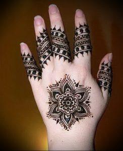 Фото Мехенди на ладони - 17062017 - пример - 028 Mehendi in the palm of your hand