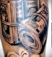 Фото тату деньги пример рисунка на теле — 16062017 — пример — 004 Tattoo money