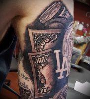 Фото тату деньги пример рисунка на теле — 16062017 — пример — 007 Tattoo money