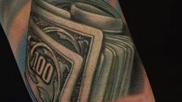 Фото тату деньги пример рисунка на теле - 16062017 - пример - 009 Tattoo money
