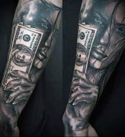 Фото тату деньги пример рисунка на теле — 16062017 — пример — 014 Tattoo money