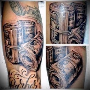 Фото тату деньги пример рисунка на теле - 16062017 - пример - 018 Tattoo money