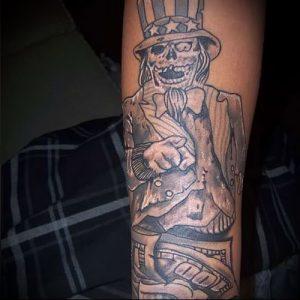 Фото тату деньги пример рисунка на теле - 16062017 - пример - 038 Tattoo money