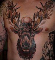 Фото тату лось — 30052017 — пример — 001 tattoo elk