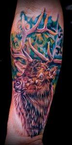 Фото тату лось - 30052017 - пример - 009 tattoo elk