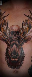 Фото тату лось - 30052017 - пример - 014 tattoo elk