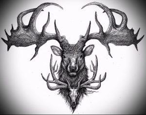 Фото тату лось - 30052017 - пример - 017 tattoo elk