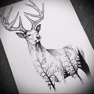 Фото тату лось - 30052017 - пример - 025 tattoo elk