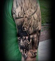 Фото тату лось — 30052017 — пример — 054 tattoo elk