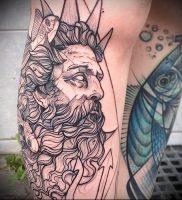 Фото тату Посейдон — 19072017 — пример — 005 Poseidon Tattoo