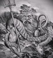 Фото тату Посейдон — 19072017 — пример — 015 Poseidon Tattoo