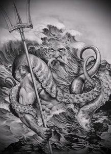 Фото тату Посейдон - 19072017 - пример - 015 Poseidon Tattoo
