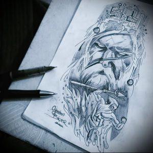 Фото тату Посейдон - 19072017 - пример - 050 Poseidon Tattoo