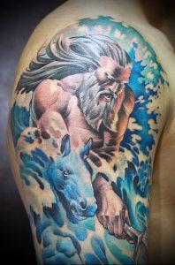 Фото тату Посейдон - 19072017 - пример - 057 Poseidon Tattoo