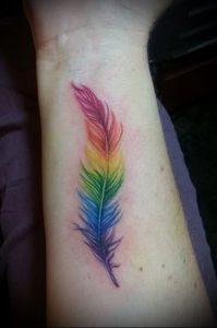 Фото тату радуга - 22072017 - пример - 001 Rainbow tattoo_tattoo-photo.ru