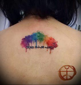 Фото тату радуга - 22072017 - пример - 074 Rainbow tattoo_tattoo-photo.ru