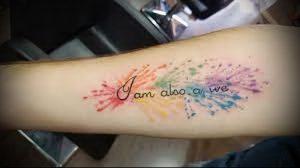 Фото тату радуга - 22072017 - пример - 101 Rainbow tattoo_tattoo-photo.ru
