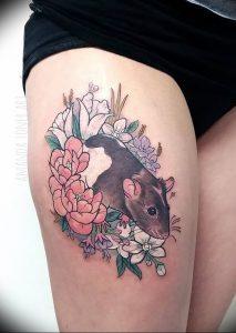 фото тату крыса от 27.07.2017 №085 - Rat tattoo_tattoo-photo.ru