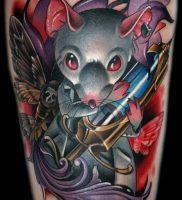 фото тату крыса от 27.07.2017 №086 — Rat tattoo_tattoo-photo.ru