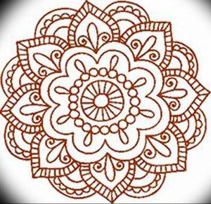 фото Мехенди мандала от 02.08.2017 №003 - Mehendi Mandala_tattoo-photo.ru