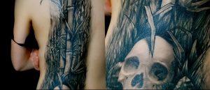 фото тату бамбук от 25.08.2017 №087 - Tattoo 13 - Tattoo bamboo - tattoo-photo.ru