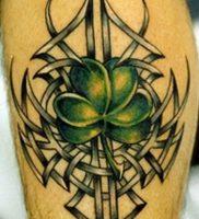 фото тату трилистник — клевер от 21.08.2017 №111 — Cloverleaf tattoo — tattoo-photo.ru