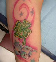 фото тату трилистник — клевер от 21.08.2017 №115 — Cloverleaf tattoo — tattoo-photo.ru