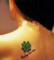 фото тату трилистник — клевер от 21.08.2017 №124 — Cloverleaf tattoo — tattoo-photo.ru