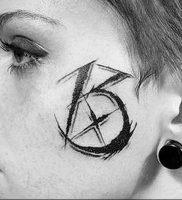 фото тату число 13 от 21.08.2017 №010 — Tattoo 13 — tattoo-photo.ru
