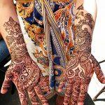 фото Рисунки мехенди на руке от 02.10.2017 №015 - mehendi on hand - tattoo-photo.ru