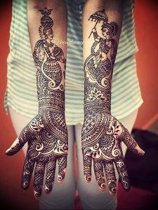 фото Рисунки мехенди на руке от 02.10.2017 №017 - mehendi on hand - tattoo-photo.ru