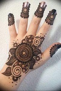 фото Рисунки мехенди на руке от 02.10.2017 №021 - mehendi on hand - tattoo-photo.ru