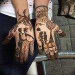 фото Рисунки мехенди на руке от 02.10.2017 №034 - mehendi on hand - tattoo-photo.ru